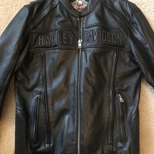 Genuine Leather Harley Davidson Riding Jacket